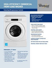 Promo cash kedit Jual Washer dryer frontloading Whirpool commercial laundry promo