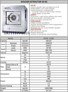 PAROS WASHER EXTRACTOR 50KG